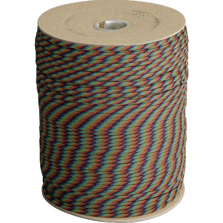 Parachute Cords 012S Dark Stripes 1,000 ft. Length Parachute Cord
